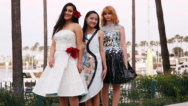 Trashin' Fashion Show Sashaying at Urban Ocean Fest