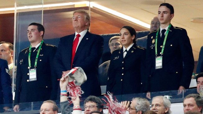 Trump Attends National Championship Game In Atlanta