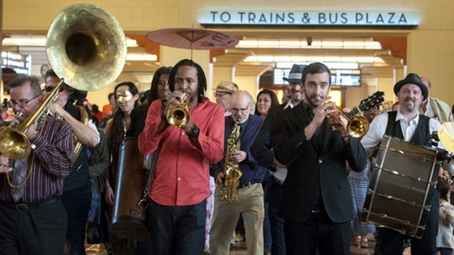 Join a Free Mardi Gras Procession Through Union Station