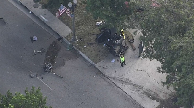 1 killed in Upland crash possibly linked to street racing