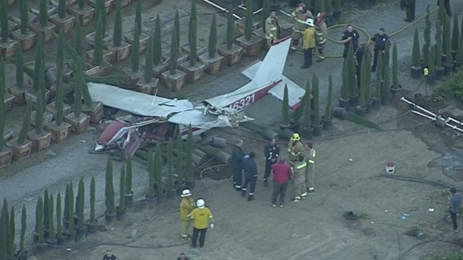 One Dead, One Injured in La Verne Plane Crash