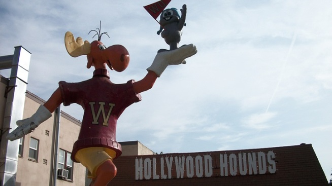 Vamoosed: Bullwinkle Statue Exits the Sunset Strip