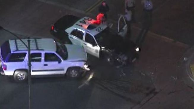 Deputy Patrol Car Involved in Crash in Compton