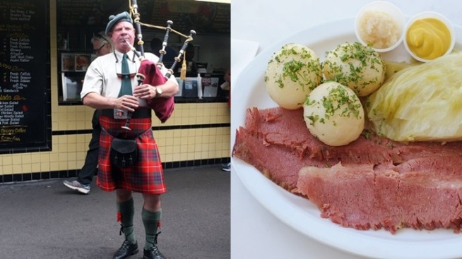 St. Pat's Day: Bagpipes 'n Corned Beef