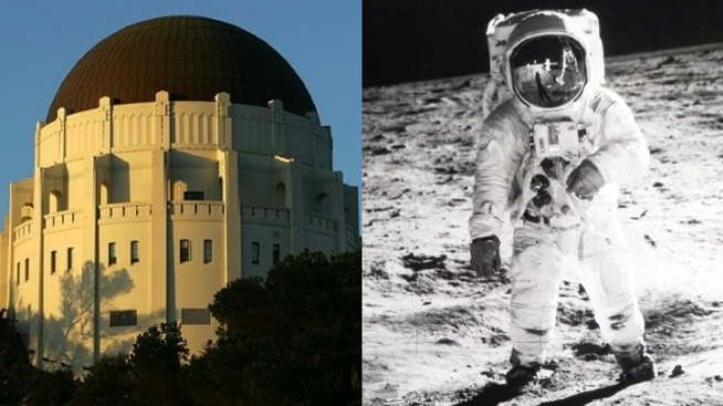 Moon Over Griffith Observatory's Apollo 11 Festival