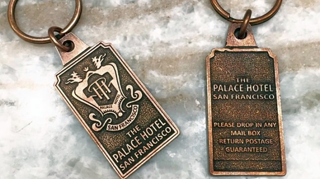History in Your Hand: Palace Hotel Keychain