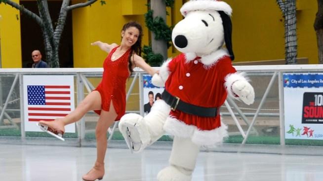 Snoopy and Tai Skate at Pershing Square