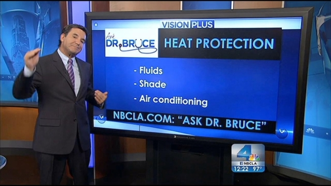 In today's Ask Dr. Bruce segment, Dr. Bruce Hensel answers your health questions regarding dealing with the heat and cholesterol.