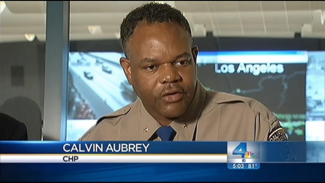 "Calvin Aubrey with California Highway Patrol says last year's San Diego (405) Freeway closure ""went great because the public paid attention,"" and stayed off the roads. As the second installment of Carmageddon approaches, Caltrans and law enforcement officials are ramping up warnings for Angelenos not to venture out behind the wheel. Angie Crouch reports from the Sepulveda Pass for the NBC4 News at 5 p.m. on Sept. 25, 2012."