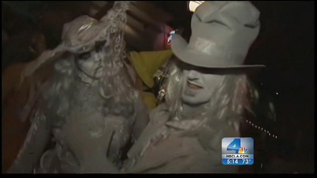 Revelers started to converge on West Hollywood Wednesday evening for the city's legendary Halloween Costume Carnavale. NBC4's Ted Chen met several colorful characters, including a spot-on Rodney Dangerfield ala