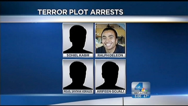 The FBI released details Tuesday in the case against the four terror suspects with ties to Southern California. The men were arrested and charged with plotting to wage