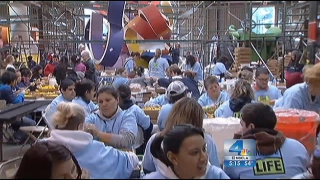 Families worked diligently Thursday to complete their special float before the New Year's Day Rose Parade. Each flower on the Donate Life float is dedicated to someone who has saved a life through organ donations. Lolita Lopez reports from Pasadena for the NBC4 News at 5 p.m. on Dec. 27, 2012.