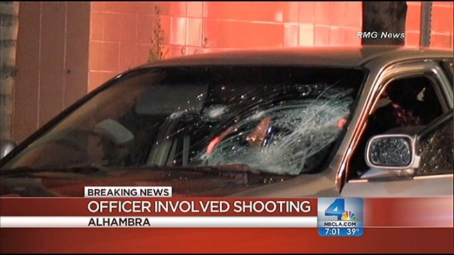 A man who used his car to hit an officer was shot and wounded in Alhambra. Antonio Castelan reports for Today in LA Weekend on Saturday, Jan. 5, 2012.