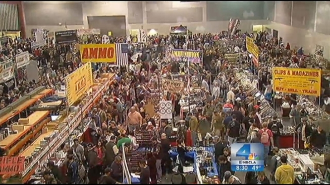 Some 6,000 people filled the Ontario Convention Center by Saturday afternoon, and more than double that figure is expected to attend the event, which is the first show of its kind in SoCal since the Sandy Hook Elementary massacre in Connecticut. The massive turnout is something even the Crossroads of the West Gun Show promoter didn t expect. Michelle Valles reports from Ontario for the NBC4 News at 8 p.m. on Jan. 5, 2013.