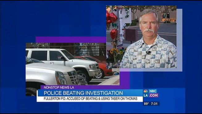 Fullerton police are under investigation after being accused of fatally beating thirty-seven year old Kelly Thomas. Today, his father Ron works tirelessly to help city leaders get a complete explanation of the facts. Ron Thomas talks to Chuck Henry on Nonstop News LA.