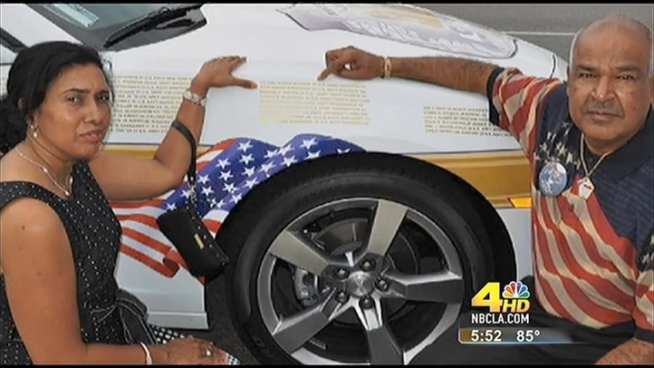 A Glendale man honors the victims of 9-11 with 5 Angel cars that will be on display in New York and Washington, DC.