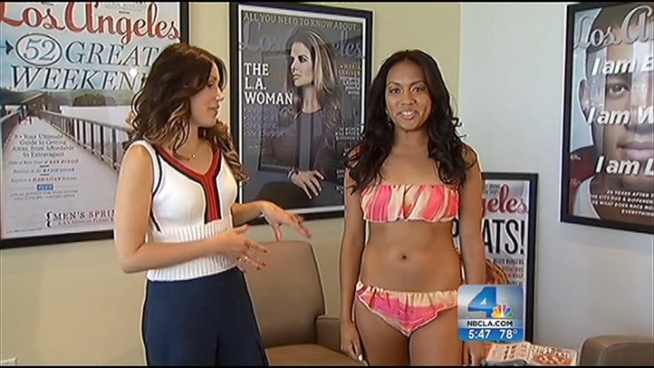Some women dread swimsuit season, but Linda Immediato of Los Angeles Magazine offers tips for how to pick the right suit to compliment your body type. Stephanie Elam reports from the Miracle Mile for the NBC4 News at 5 p.m.on June 12,2012.