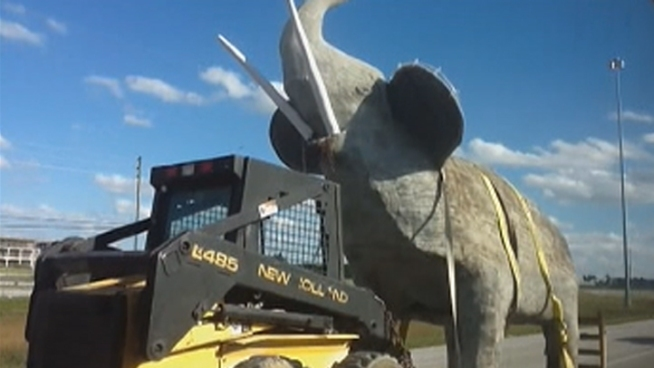 Reinol Fernandez's elephant statue was loaded onto a trailer and driven away from his home Sunday after The Hidden Ark offered it refuge. Damaris Fernandez and Reniel Aguila spoke about the match many might say was made in heaven.
