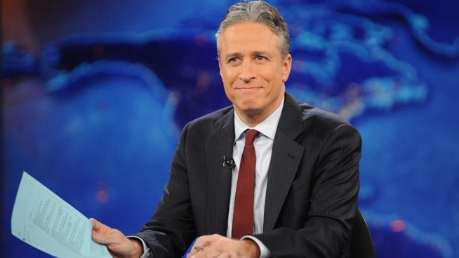 "Jon Stewart Lauds Power of the ""Kiss Cam"""