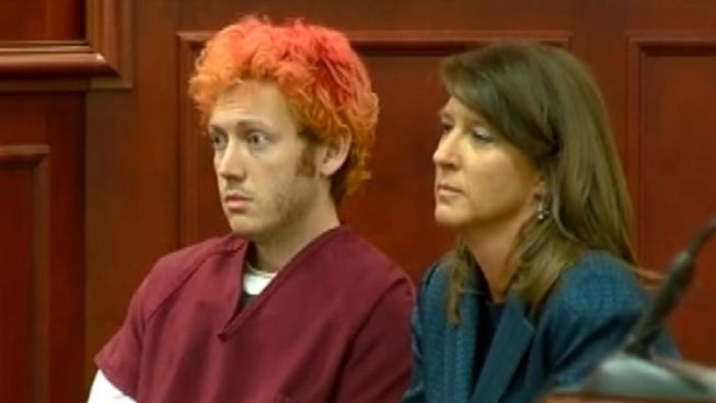 Suspected theater gunman James Holmes, 24, makes his first court appearance.