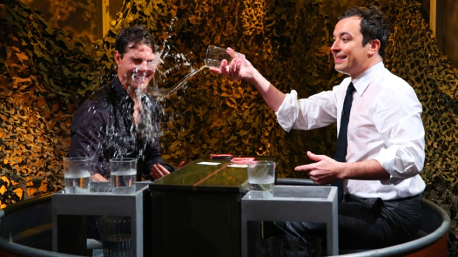 "Tom Cruise Gets Wet on ""Late Night"""