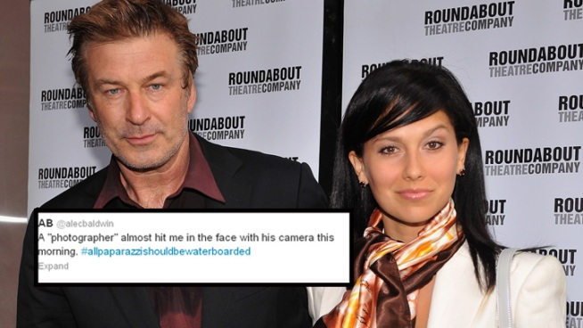 Alec Baldwin Tussles With Photogs