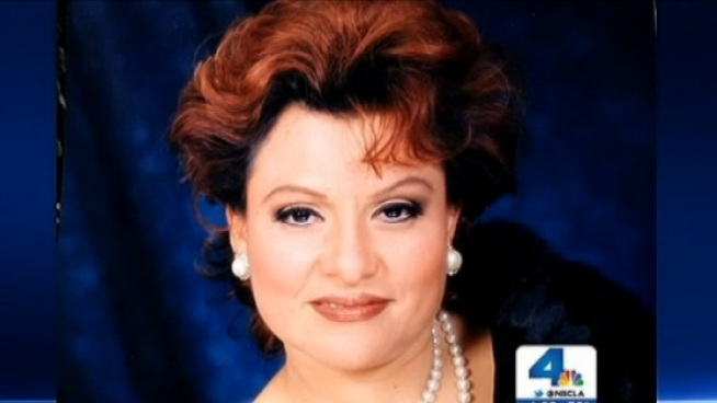 Ana Sylvia Ramirez, 53, was killed Sunday when a driver lost control along Broadway in Downtown Los Angeles. As they grieved, Ramirez's children lauded their mother as a hero who pushed their father out of the way as the truck rushed toward them. Jane Yamamoto reports from Downtown LA for the NBC4 News at 6 p.m. on March 11, 2013.