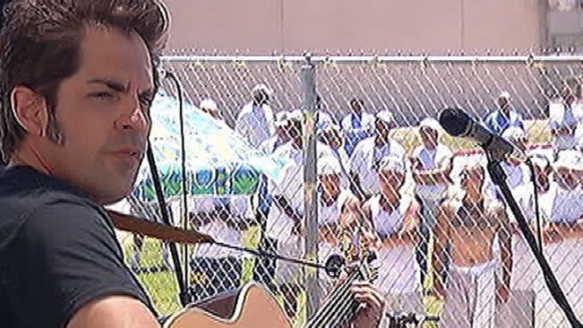 A Los Angeles nonprofit called Jail Guitar Doors seeks to use music to change revenge into redemption for prison inmates. John Cádiz Klemack reports for the NBC4 News at 11 p.m. on July 3, 2012.