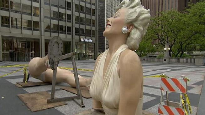 The 40,000-pound, 26-foot statue of Marilyn Monroe's famous pose from