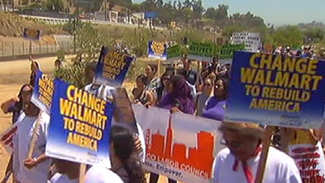 Thousands of people protested a Walmart that's being built in Chinatown, saying the chain store would bring low-paying jobs and destroy the character of the historic Los Angeles neighborhood. Others in Chinatown said they'd welcome the store. Michelle Valles reports from Chinatown for the NBC4 News at 6 p.m. on June 30, 2012.