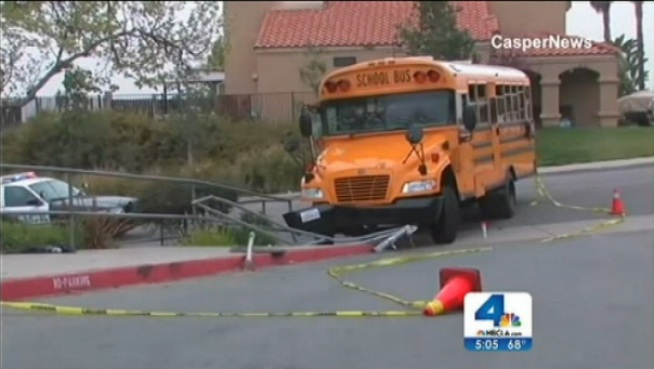A 5-year-old girl who was nearly crushed by a school bus in Moreno Valley was in serious condition Tuesday as investigators revealed what may have happened to cause the accident. Jacob Rascon reports from Moreno Valley for the NBC4 News at 5 p.m. on March 19, 2013.