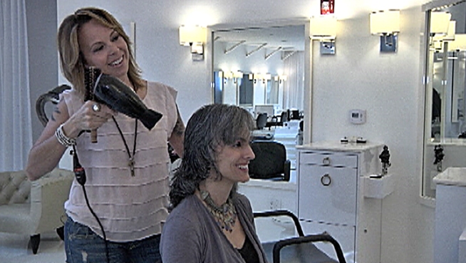 Attitudes seem to be changing about the appeal of gray hair, prompting beauty manufacturers to develop product lines targeting people who want to keep the gray. Lucy Noland reports.