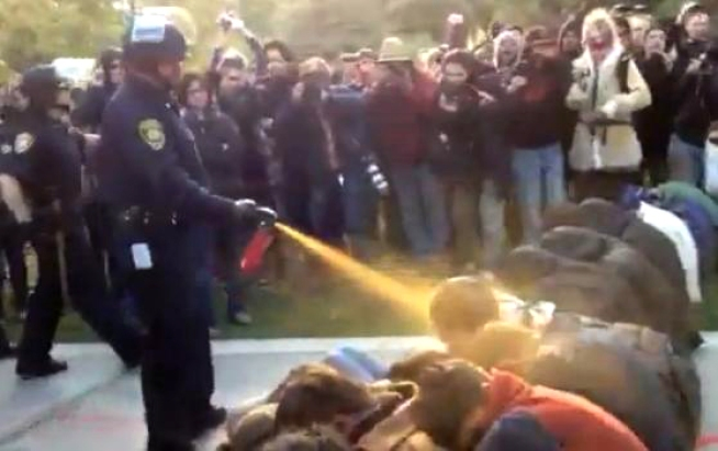 Cop Who Pepper-Sprayed Students Seeks Workers Comp