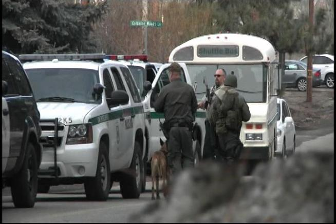 Visitors and residents were warned to stay inside as deputies scoured the area for Christopher Dorner, the subject of region-wide manhunt. Dorner's charred truck was found on a forestry road Thursday afternoon. Kim Baldonado reports for the NBC4 News at 11 p.m. on Feb. 7, 2013.