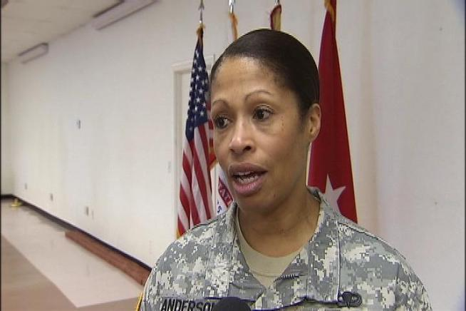 Major General Anderson is the first African-American woman to earn the rank of Major General in the 237-year history of the U.S. Army.  On Thursday she came to Southern California to speak about women's equality.  Beverly White reports from Los Alamitos for the NBC4 News at 5 p.m. on Aug. 16, 2012.