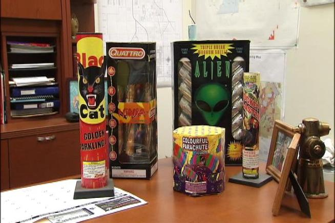The rash of illegal fireworks seizures this year in Southern California extends to the Inland Empire. More than 7,000 pounds of illegal fireworks were confiscated in San Bernardino. Craig Fiegener reports from Colton for the NBC4 News at 5 p.m. on July 3, 2012.