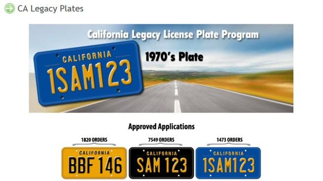 Classic California License Plates Return