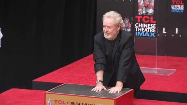 Ridley Scott Honored With Hand and Footprint Ceremony at TCL Chinese Theatre