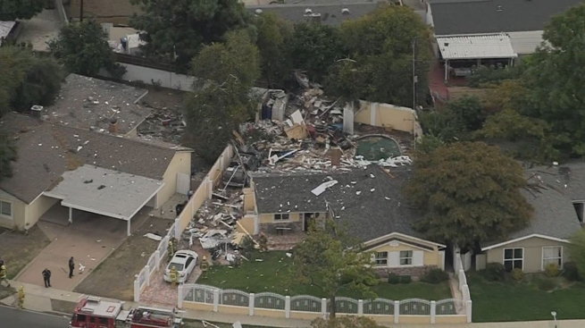 Police investigating explosion at Canoga Park home