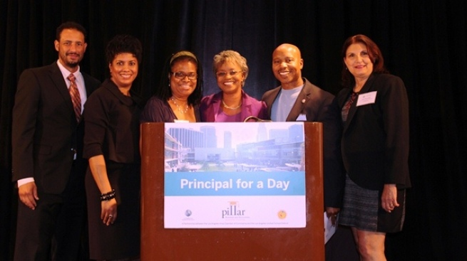 NBC4's Tony Guinyard Emcees Principal for a Day Luncheon