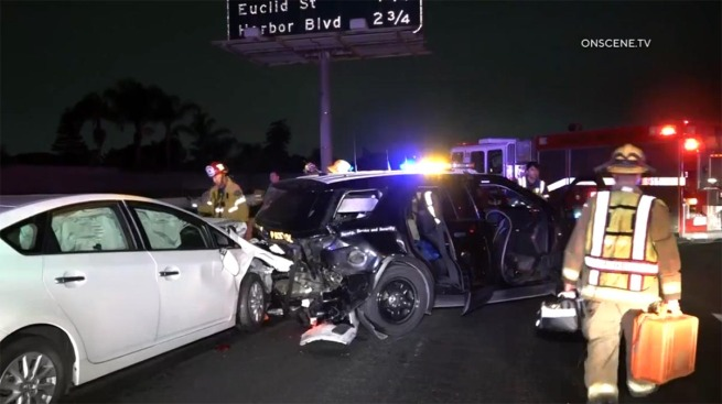Two CHP Officers Injured in Construction Work Zone DUI Crash on the 405 Freeway
