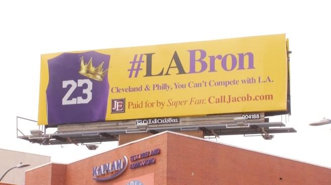 LA-Bron Billboards Spotted in LA For LeBron James - NBC ...