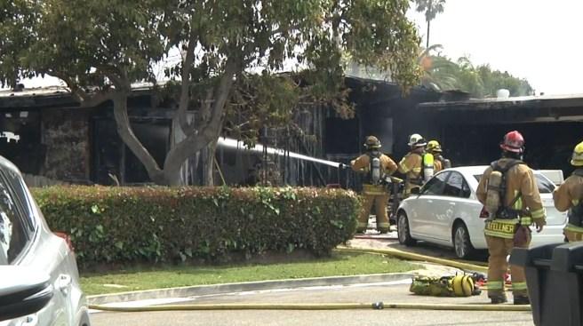 Firefighter Injured While Battling Garden Grove House Fire