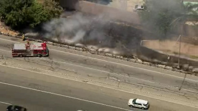 Small Grass Fire Extinguished Near 710 Freeway