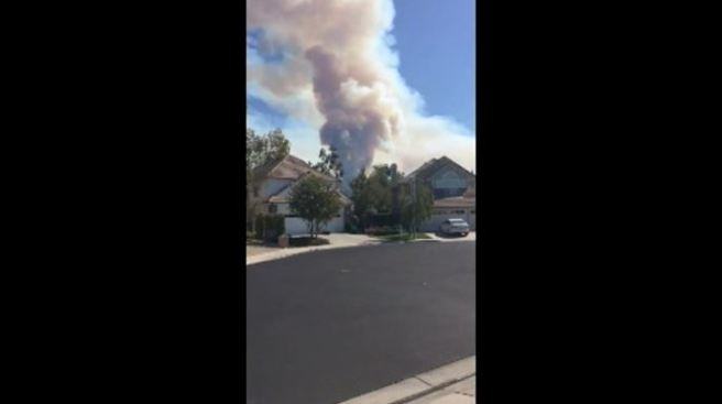 Firefighter Injured Battling Orange County Blaze