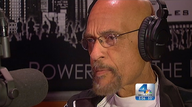 Radio host Dr. Earl Ofari Hutchinson took calls from listeners weighing in on an ex-LAPD officer's alleged revenge-motivated shooting spree. Feedback suggested that while they don't condone the violence allegedly carried out by Christopher Dorner, some listeners can understand why he's furious with the department. Ted Chen reports for the NBC4 News at 5 p.m. on Feb. 9, 2013.