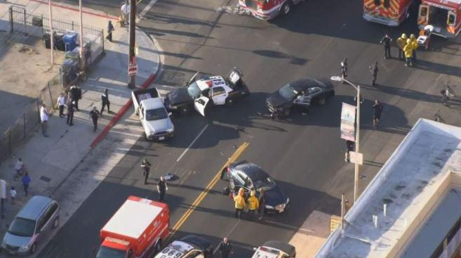 Officer Responding to Shooting Crashes Patrol Car, Causing Injuries