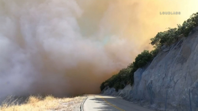 54-Acre Wildfire Burning Near Ortega Highway