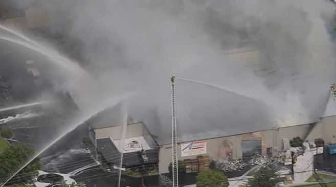 Three Injured, Including Two Firefighters, in Fire that Guts Chemical Company