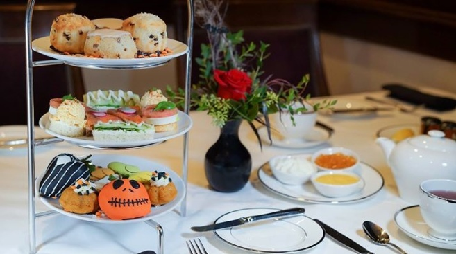 Trick-or-Treat Tea at the Disneyland Hotel